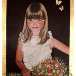 Portræt af Astrid 4 år