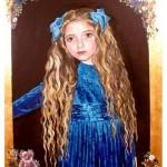 Portræt af Charmaine 5 år